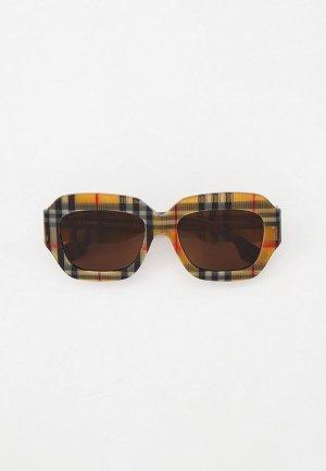 Очки солнцезащитные Burberry BE4334 393273. Цвет: разноцветный