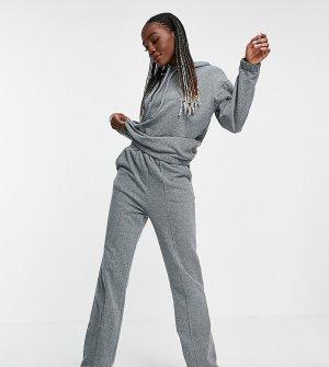 Темно-серый спортивный костюм (худи и прямые джоггеры) ASOS DESIGN Tall