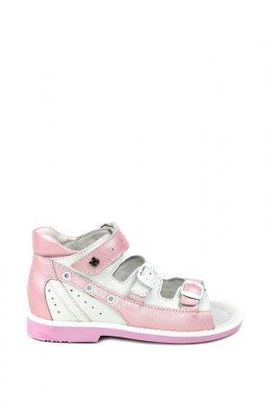 Туфли летние ELEGAMI. Цвет: розовый, белый