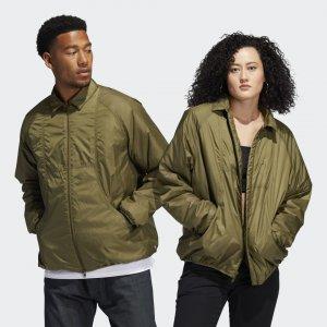 Утепленная куртка Coach (Унисекс) Originals adidas. Цвет: оливковый