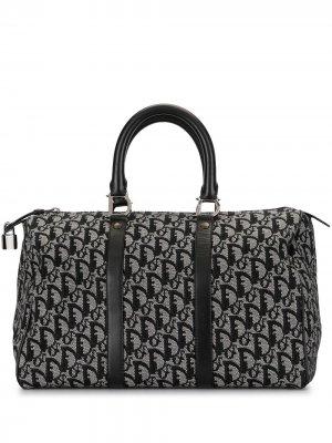Дорожная сумка с узором Trotter Christian Dior. Цвет: черный