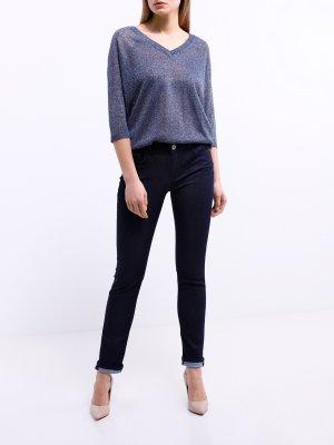 Зауженные джинсы Trussardi Jeans. Цвет: temno_siniy