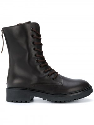 Ботинки на шнуровке P.A.R.O.S.H.. Цвет: коричневый