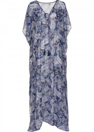Пляжное платье bonprix. Цвет: синий