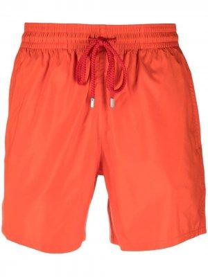 Logo-patch swim shorts Vilebrequin. Цвет: красный