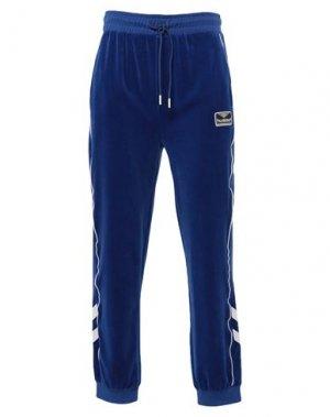 Повседневные брюки HUMMEL. Цвет: ярко-синий
