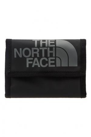 Серый бумажник с логотипом The North Face. Цвет: черный