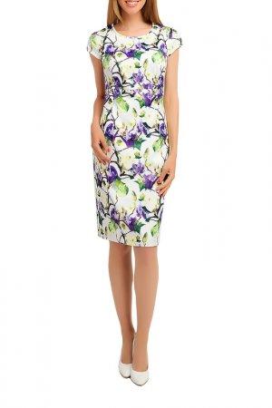 Платье Giulia Rossi. Цвет: зелено-фиолетовый