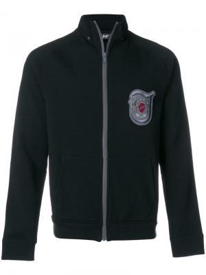 Куртка с заплаткой логотипом Jo No Fui. Цвет: черный