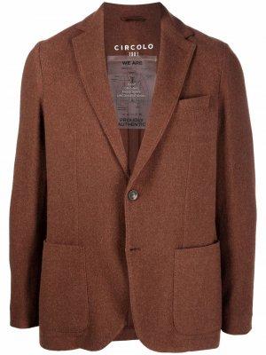 Однобортный пиджак Circolo 1901. Цвет: коричневый
