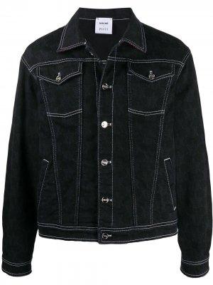 Джинсовая куртка с контрастной строчкой Emilio Pucci. Цвет: черный