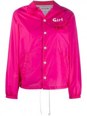 Куртка-рубашка с оборками Comme Des Garçons Girl. Цвет: розовый