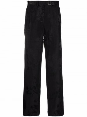 Жаккардовые брюки прямого кроя Haider Ackermann. Цвет: черный