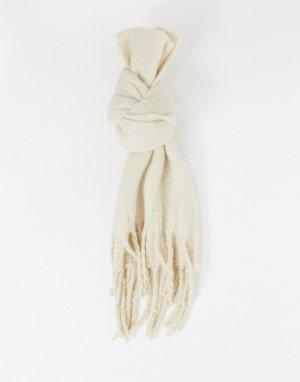 Бежевый шарф из переработанного материала Elsa Monki