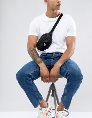 Черная сумка-кошелек на пояс с логотипом Lyle & Scott. Цвет: черный