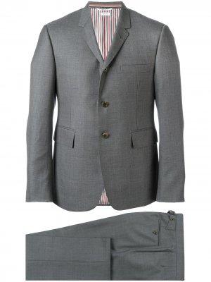 Твиловый костюм Super 120s Thom Browne. Цвет: серый