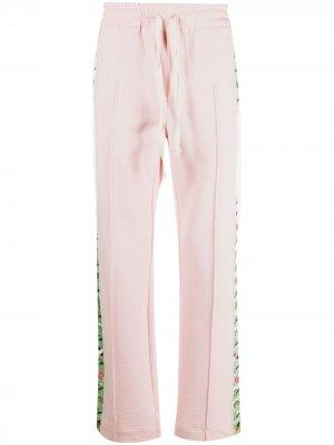 Спортивные брюки с лампасами Casablanca. Цвет: розовый