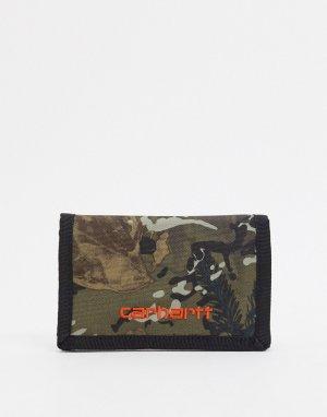 Камуфляжный бумажник Payton-Зеленый Carhartt WIP