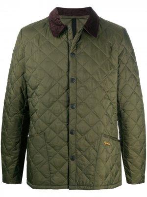 Стеганая куртка Liddesdale Barbour. Цвет: зеленый