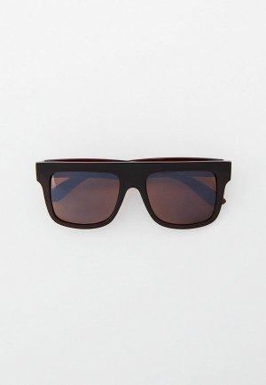 Очки солнцезащитные Eyelevel Toni. Цвет: коричневый