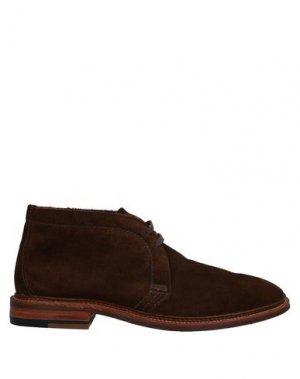 Полусапоги и высокие ботинки ALDEN. Цвет: коричневый