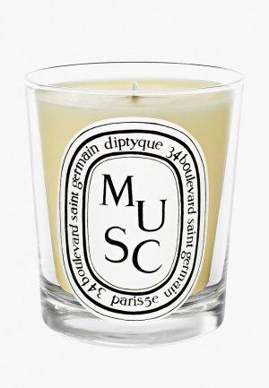 Свеча ароматическая Diptyque Musc/Мускус, 190 г. Цвет: белый