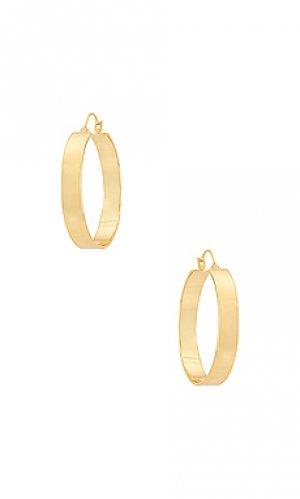 Серьги-кольца jax gorjana. Цвет: металлический золотой