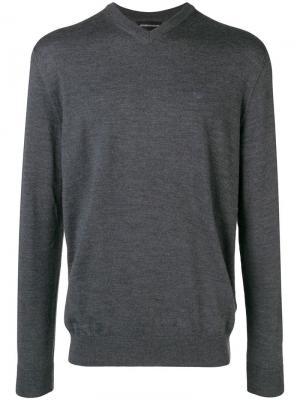 Пуловер с V-образным вырезом Emporio Armani