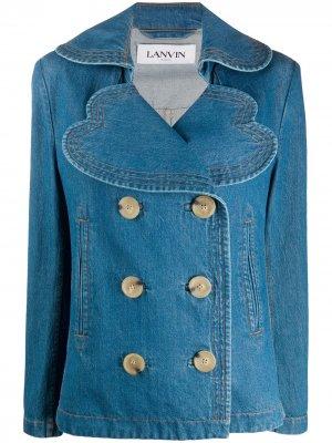 Джинсовая куртка оверсайз LANVIN. Цвет: синий