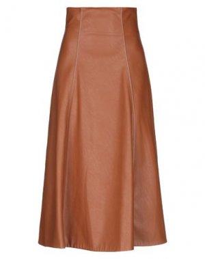 Длинная юбка BEATRICE. Цвет: коричневый