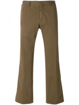 Классические узкие брюки чинос Nº21. Цвет: зелёный