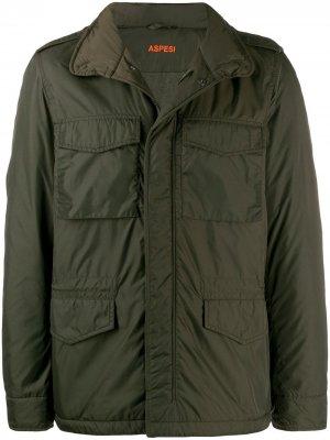 Куртка на молнии Aspesi. Цвет: зеленый