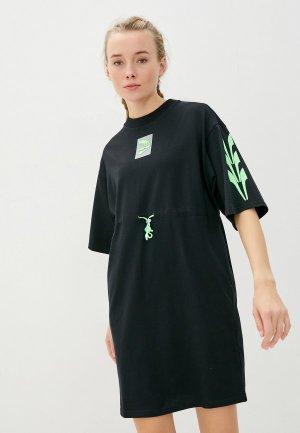 Платье PUMA Evide Dress. Цвет: черный
