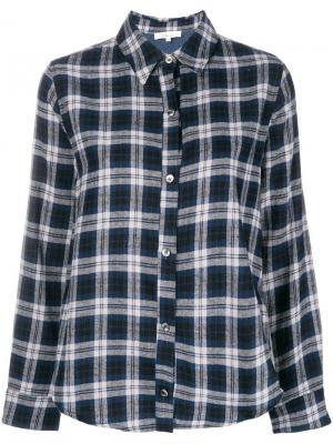Рубашка в клетку Clu. Цвет: синий