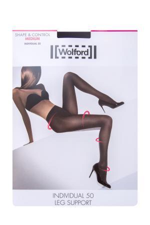 Колготки «Individual 50 Leg Support» с поддержкой по всей длине WOLFORD. Цвет: черный