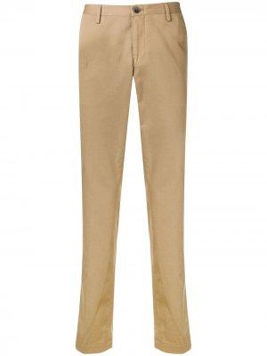 Классические однотонные брюки чинос BOSS. Цвет: нейтральные цвета