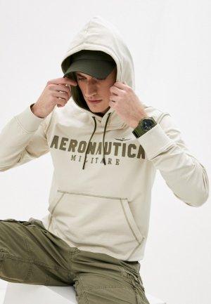 Худи Aeronautica Militare. Цвет: бежевый