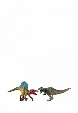 Набор игровой Schleich Динозавры спинозавр и т-рекс. Цвет: разноцветный
