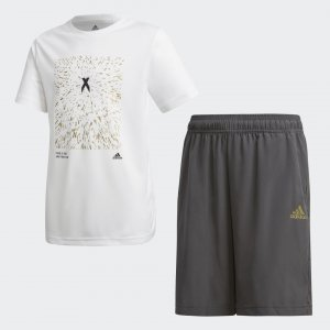 Комплект: футболка и шорты X AEROREADY Performance adidas. Цвет: белый