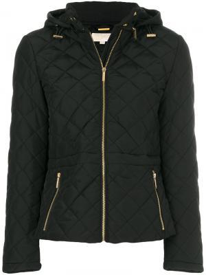 Стеганая куртка-бомбер с капюшоном Michael Kors. Цвет: чёрный