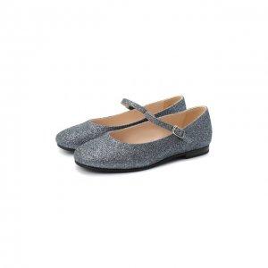 Туфли с ремешком Il Gufo. Цвет: серебряный