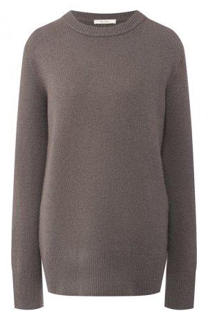 Пуловер из шерсти и кашемира The Row. Цвет: серый