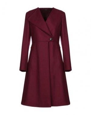 Пальто MANUELA CONTI. Цвет: пурпурный