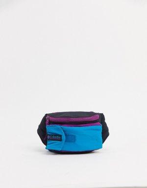 Черно-синяя сумка-кошелек на пояс -Черный цвет Columbia
