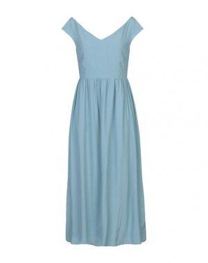 Платье миди 1-ONE. Цвет: пастельно-синий