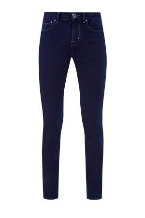 Зауженные джинсы из денима Kurabo JACOB COHEN. Цвет: синий