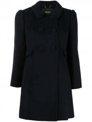 Двубортное пальто Marc Jacobs. Цвет: синий