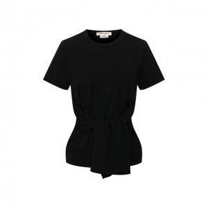 Хлопковая футболка Comme des Garcons. Цвет: чёрный
