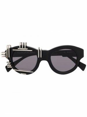 Солнцезащитные очки Artificial Intelligence Kuboraum. Цвет: черный