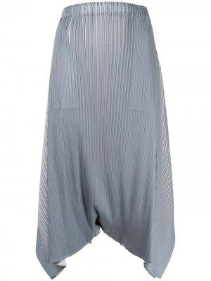Плиссированные брюки-шаровары Pleats Please Issey Miyake. Цвет: серый